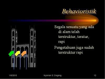 Pembelajaran Behavioristik