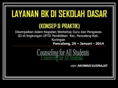 Workshop Layanan BK di SD (UPTD Pendidikan Kec. PANCALANG)