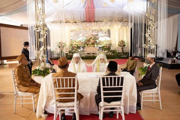 Suasana Prosesi Ijab Qabul Pernikahan Nourma Fitria Sabila dengan Fendy Handika